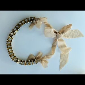 Statement J Crew necklace with ribbon tie